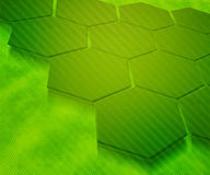 абстрактные шестиугольники зеленого цвета предпосылки Стоковое фото RF