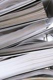 абстрактные штабелированные скоросшиватели Стоковая Фотография RF