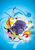 абстрактные элементы состава цвета Стоковые Фото