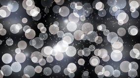 Абстрактные яркие света, яркие блески и Bokeh в темной предпосылке стоковые фотографии rf