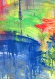 Абстрактные acrylic и предпосылка акварели Стоковое Изображение
