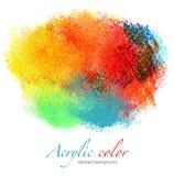 Абстрактные acrylic и предпосылка акварели Стоковые Изображения