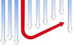 абстрактные businsess стрелок Стоковое фото RF
