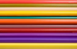 Абстрактные Crayons цвета осмотренные вверх по концу Стоковые Фотографии RF