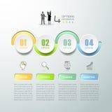 Абстрактные 3d infographic 4 варианта, концепция дела infographic Стоковые Фото
