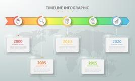 Абстрактные 3d infographic 5 вариантов, концепция дела infographic Стоковое Фото