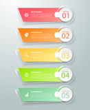 Абстрактные 3d infographic 5 вариантов, концепция дела infographic Стоковые Изображения RF