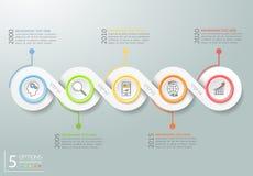 Абстрактные 3d infographic 5 вариантов, концепция дела infographic Стоковые Фото