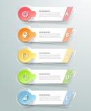 Абстрактные 3d infographic 5 вариантов, концепция дела infographic Стоковая Фотография RF