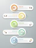 Абстрактные 3d infographic шаги шаблона 5, Стоковые Фото