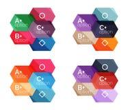 Абстрактные infographic знамена для вашего содержания Стоковое Фото
