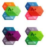Абстрактные infographic знамена для вашего содержания Стоковые Фотографии RF