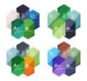 Абстрактные infographic знамена для вашего содержания Стоковые Изображения RF
