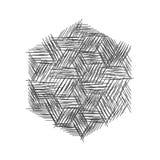 Абстрактные monochrome ходы Стоковые Фотографии RF