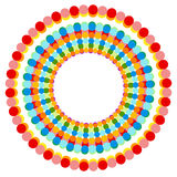 Абстрактные multicolor поставленные точки круги Красочное украшение круга иллюстрация штока
