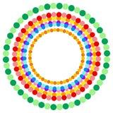 Абстрактные multicolor поставленные точки круги Красочное украшение круга Стоковая Фотография RF