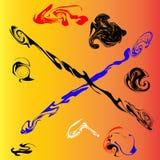 Абстрактные shapeless картины Стоковая Фотография RF