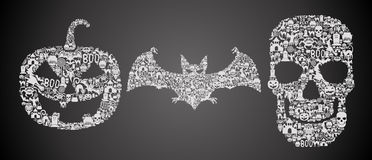 Абстрактные simbols хеллоуина Стоковые Фотографии RF