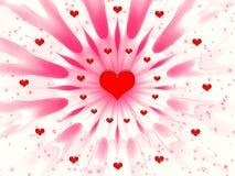 абстрактные valentines дня Стоковые Фотографии RF