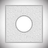 Абстрактный лабиринт - рамка Стоковые Фотографии RF