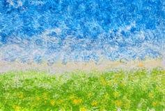 абстрактный акриловый ландшафт Стоковое Фото