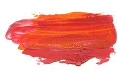 Абстрактный акриловый ход щетки цвета изолировано стоковые изображения