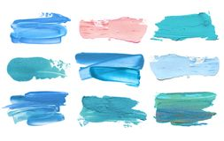 Абстрактный акриловый ход щетки цвета изолировано стоковое изображение rf