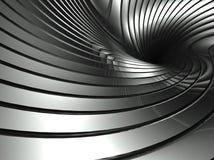 абстрактный алюминиевый twister серебра предпосылки 3d Стоковые Фотографии RF