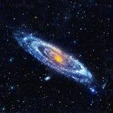 Абстрактный ландшафт космоса с спиральной галактикой Стоковые Изображения RF