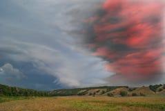 абстрактный ландшафт облака над долиной Стоковое Изображение RF