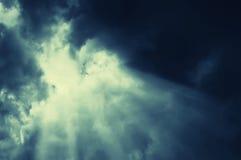 абстрактный ландшафт облаков еженощно Стоковое Фото