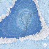 абстрактный ландшафт предпосылки Вектор мозаики Стоковое Изображение RF
