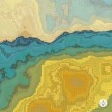 абстрактный ландшафт предпосылки мозаика Стоковые Фото
