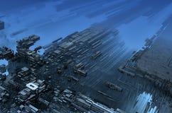 Абстрактный ландшафт с перспективой иллюстрация штока