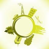 Абстрактный ландшафт eco Бесплатная Иллюстрация
