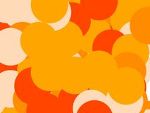 Абстрактный апельсин объезжает предпосылку иллюстрации Стоковые Фотографии RF