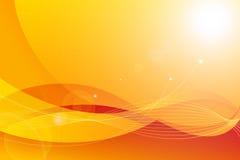 Абстрактный апельсин кривой стоковая фотография