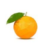 Абстрактный апельсин с стилем треугольника Стоковые Изображения RF