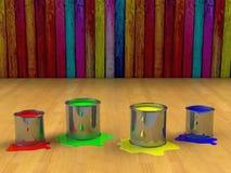 абстрактный бак краски цвета предпосылки Стоковые Фото