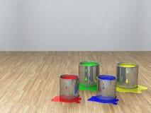 абстрактный бак краски цвета предпосылки Стоковая Фотография RF