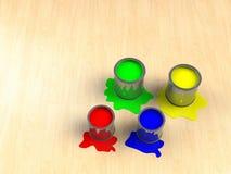 абстрактный бак краски цвета предпосылки Стоковое Фото