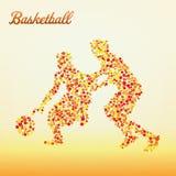 абстрактный баскетболист Стоковые Изображения RF