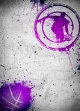 Баскетбол и плакат или рогулька streetball предпосылка Стоковые Фото