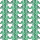 Абстрактный безшовный зеленый цвет картины выходит форма орнамента природы Ci иллюстрация вектора