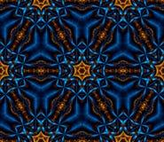 Абстрактный безшовный свет фрактали - голубые снежинки Стоковое фото RF