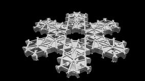 Абстрактный белый объект чужеземца в глубокой вселенной перевод 3d Стоковые Фотографии RF