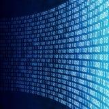 абстрактный бинарный Код цифровой иллюстрация вектора