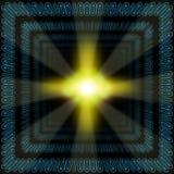 абстрактный бинарный корридор Стоковые Фотографии RF