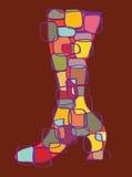 абстрактный ботинок иллюстрация вектора
