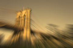 Абстрактный Бруклинский мост Нью-Йорк предпосылки нерезкости Стоковое Изображение RF